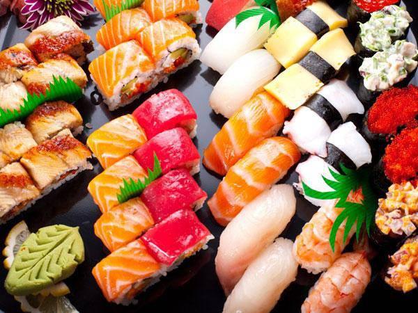 cachés dans le sushi