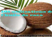 utilisations de l'huile de coco