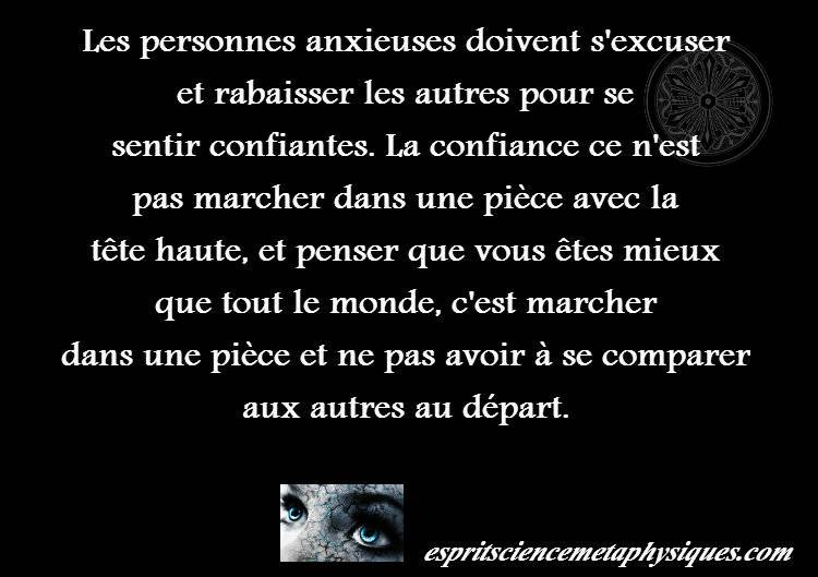 les personnes anxieuses