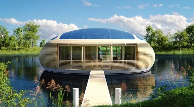 Water Nest : la maison moderne flottante presque 100% recyclable