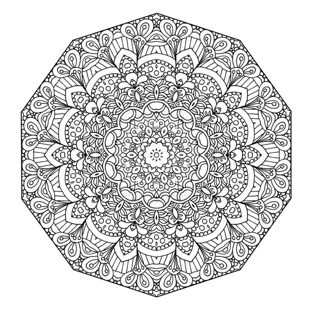 adult coloring mandala pages - photo#36