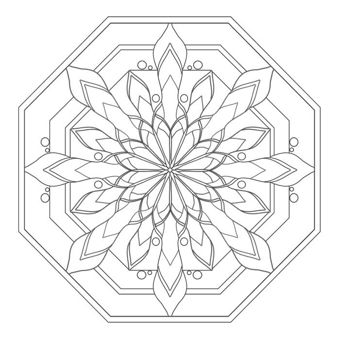 Free Coloring Pages Of Mandalas Easy Simple Mandala Coloring Pages