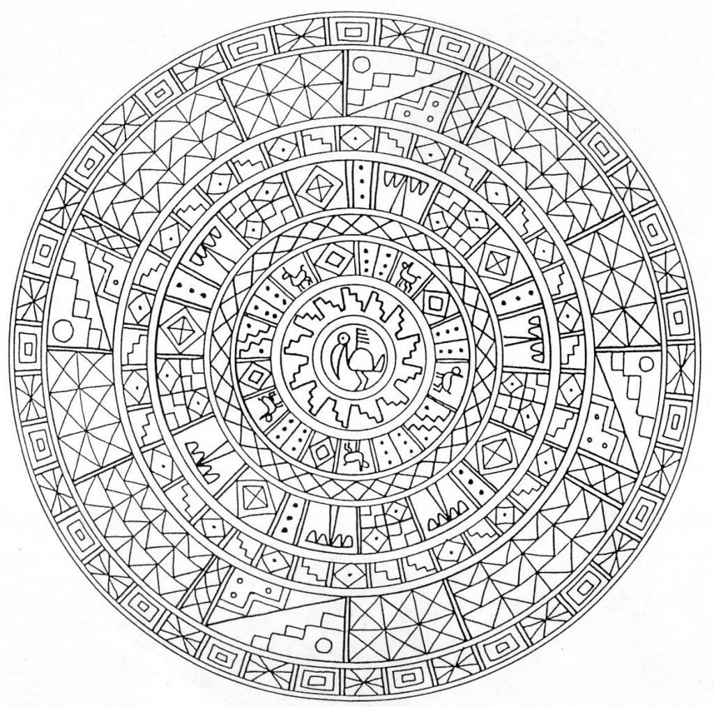 mandala coloring pages complicated quotes - photo#28