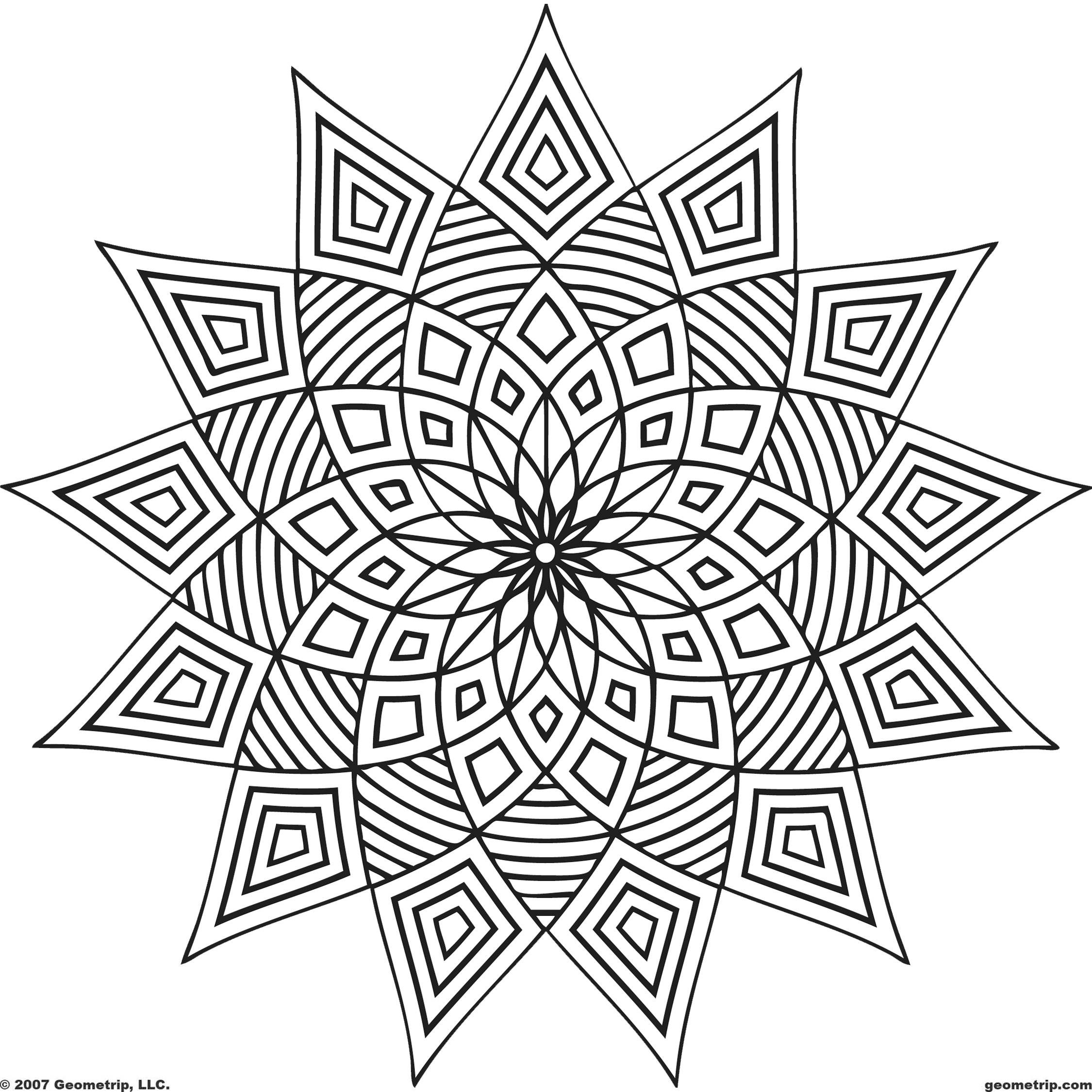 Mandalas et coloriages abstraits