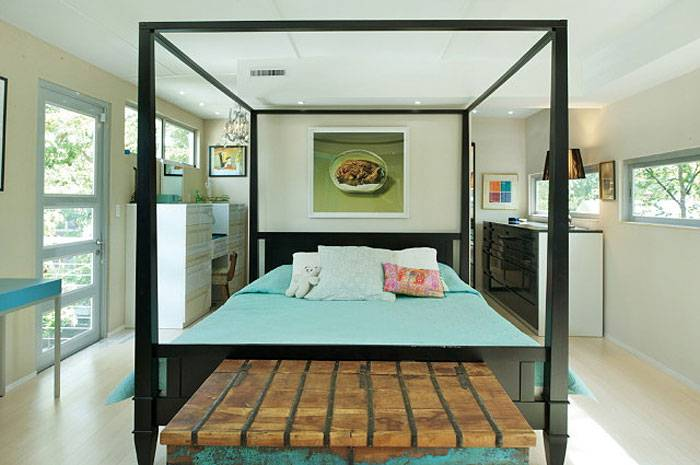 Convert Five Shipping Containers Into a Modern Home Bedroom