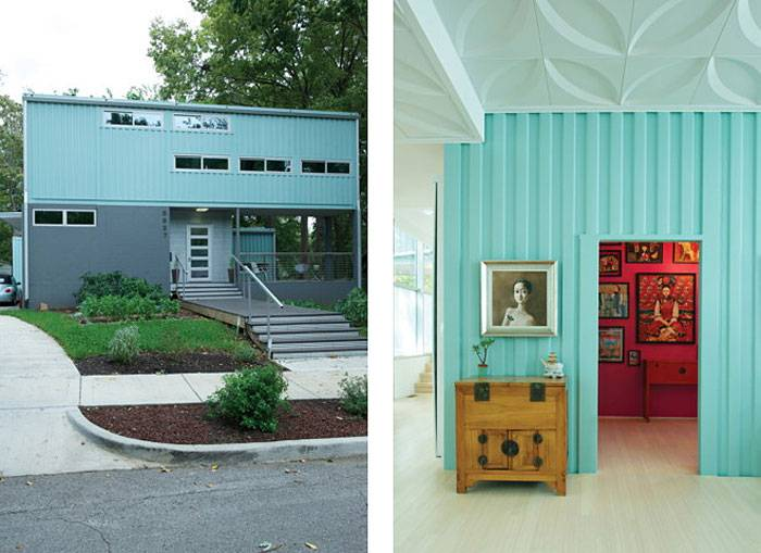 Convert Five Shipping Containers Into a Modern Home Front
