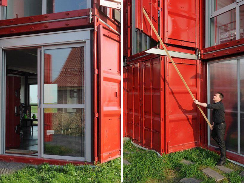 Les plus belles maisons faites avec des containers de stockage for Maison container visite