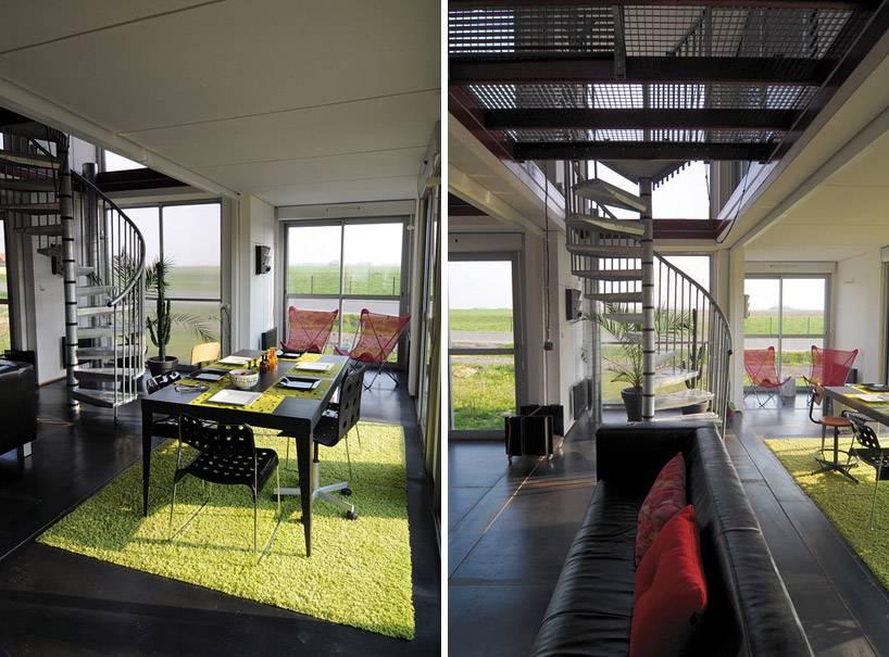les plus belles maisons faites avec des containers de stockage. Black Bedroom Furniture Sets. Home Design Ideas