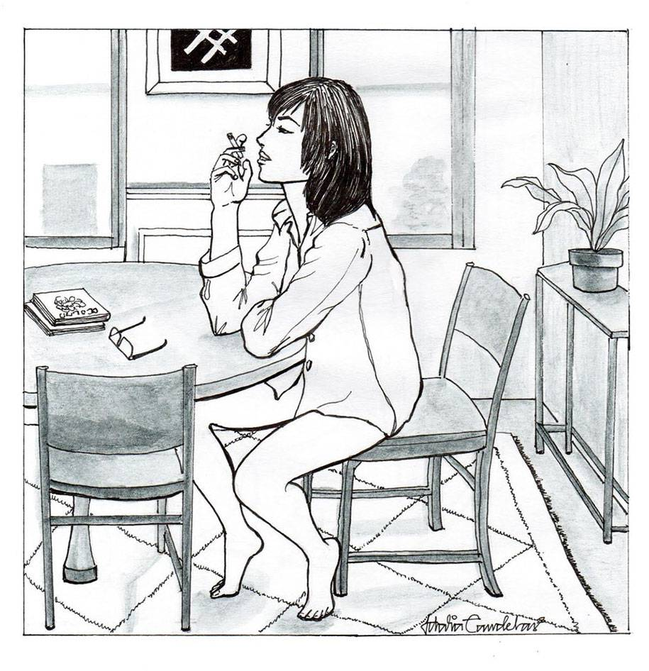 single-woman-drawings-alone-postmodern-loneliness-idalia-candelas-4