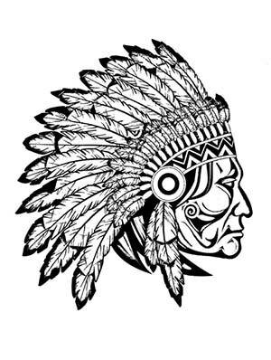 indian tribal masks coloring pages - photo#31