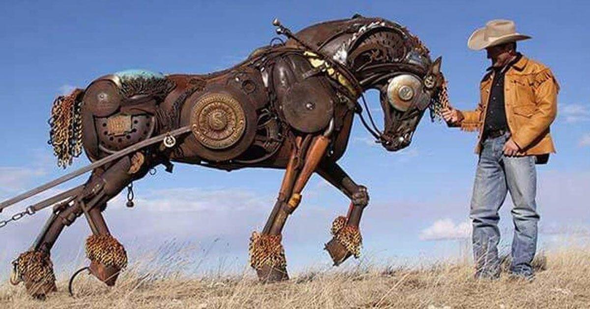 sculptures d'animaux.