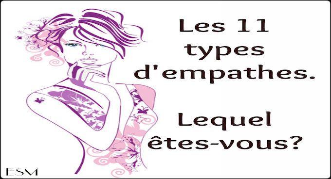types d'empathes