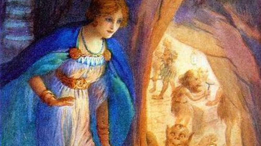 Freyja dans la cave des nains, illustration par Louis Huard