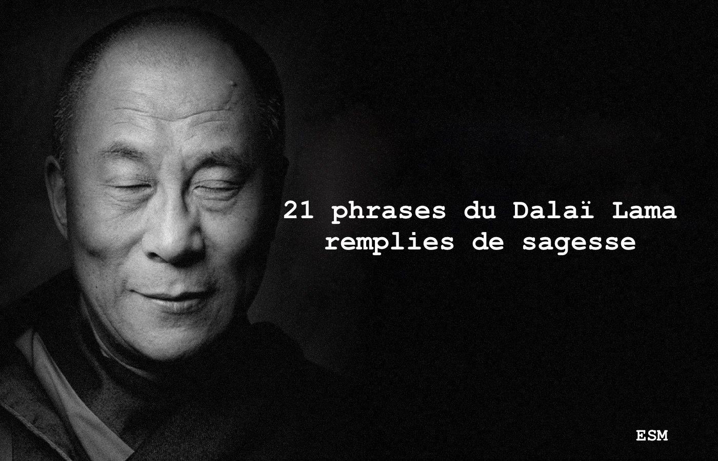 21 Phrases Du Dalaï Lama Remplies De Sagesse Esprit