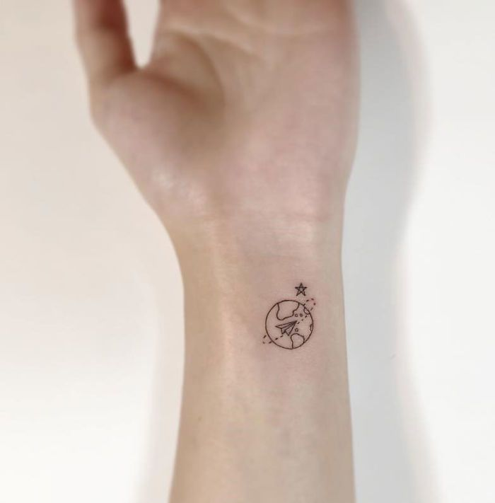 Magnifiques Tatouages Minimalistes Par Un Artiste Coreen Esprit