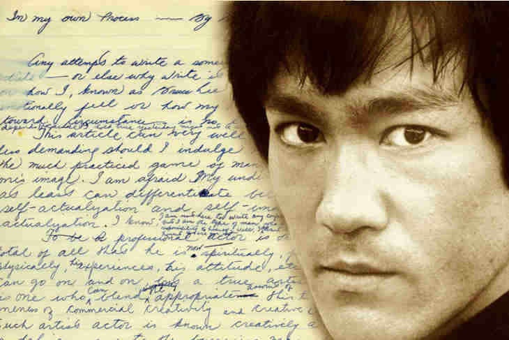 Dans des lettres non publiées, Bruce Lee