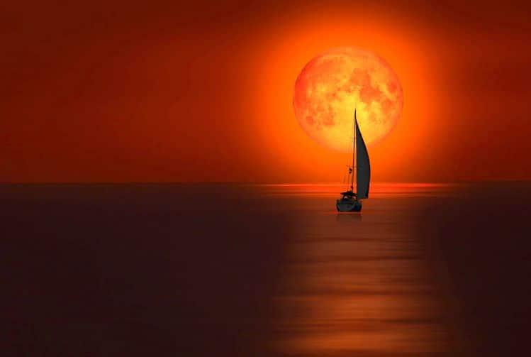Lune de Sang et l'Éclipse lunaire