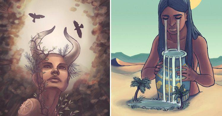 signes du zodiaque en superbes déesses