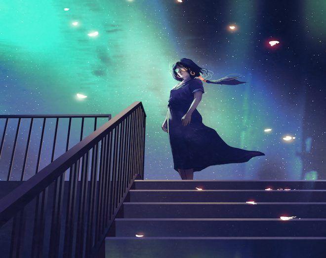Femme dans la nuit
