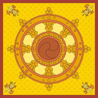 symboles sacrés : Roue du Dharma