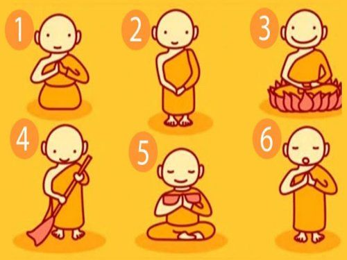 choisissez un moine bouddhiste