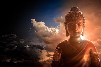 symboles sacrés : paix de Bouddha