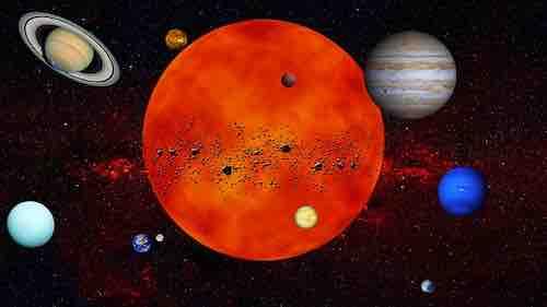 Alignement Vénus et Mars