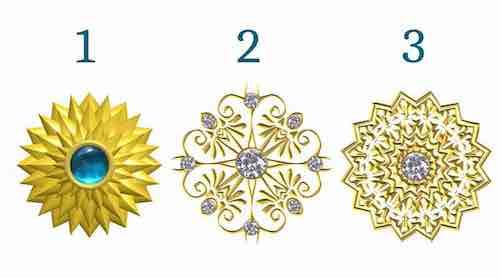 Choisissez un mandala en cristal doré pour découvrir le message de votre Soi Supérieur