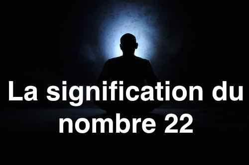 signification du nombre 22