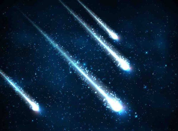 rare pluie de météorites
