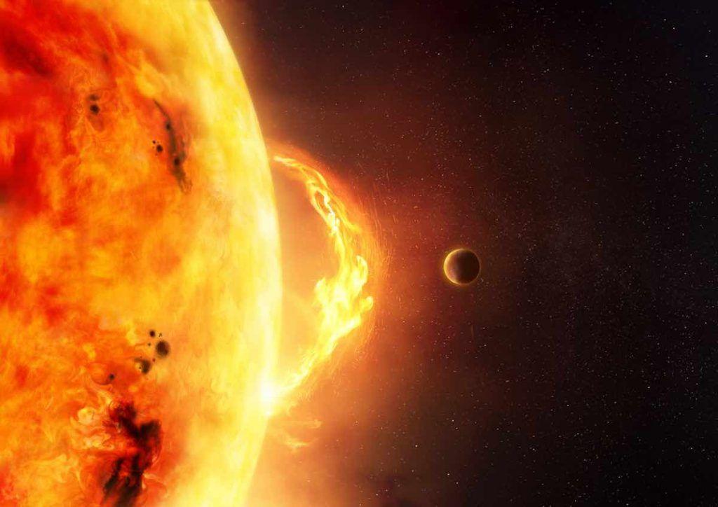 éruption solaire 2020