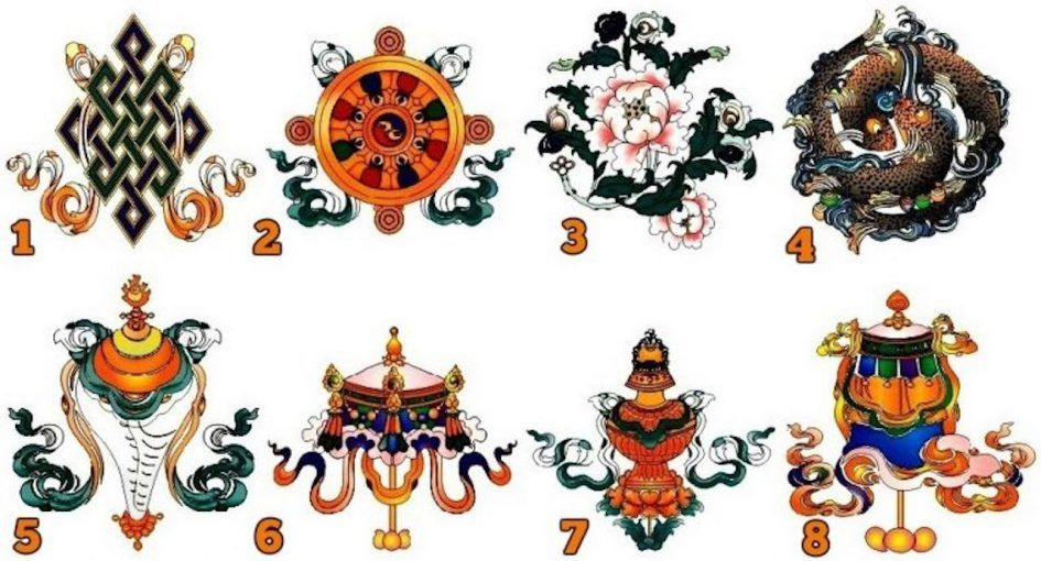 anciens symboles tibetains