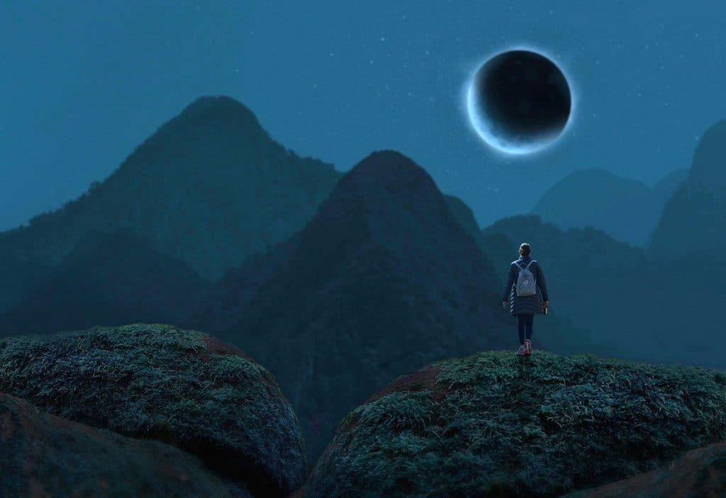 éclipse de la nouvelle lune de décembre