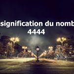 signification nombre 4444